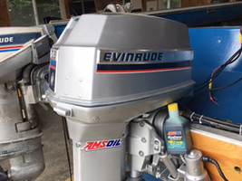 AMSOIL Outboard Synthetic 2-Stroke Oil Keeps 1974 Evinrude running strong